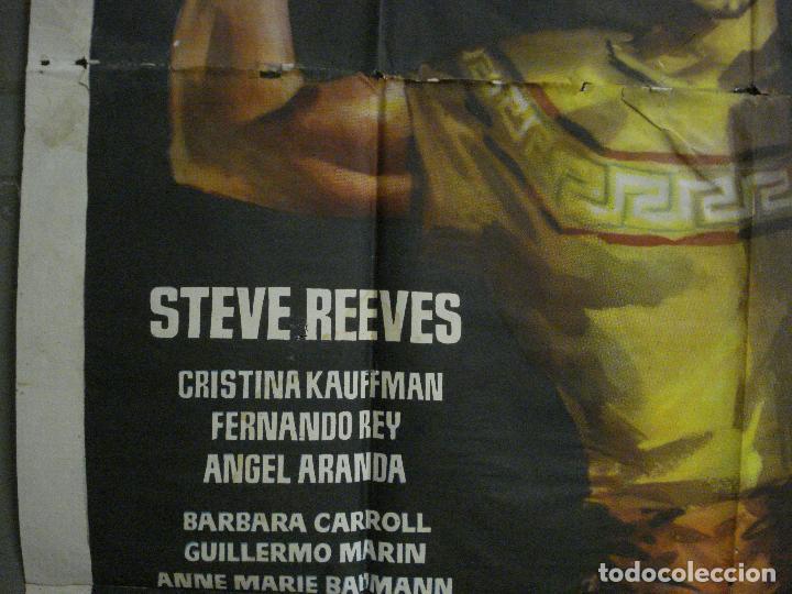 Cine: CDO M113 LOS ULTIMOS DIAS DE POMPEYA STEVE REEVES SERGIO LEONE PEPLUM POSTER ORIG 100x140 ESTRENO - Foto 3 - 286163033