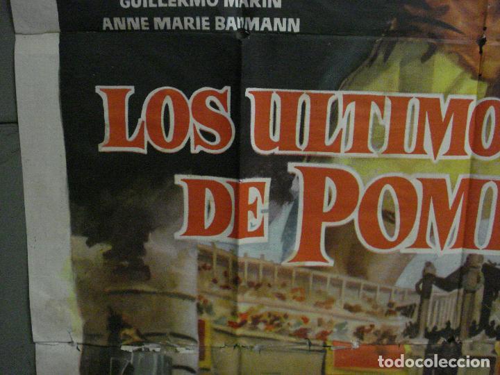 Cine: CDO M113 LOS ULTIMOS DIAS DE POMPEYA STEVE REEVES SERGIO LEONE PEPLUM POSTER ORIG 100x140 ESTRENO - Foto 4 - 286163033