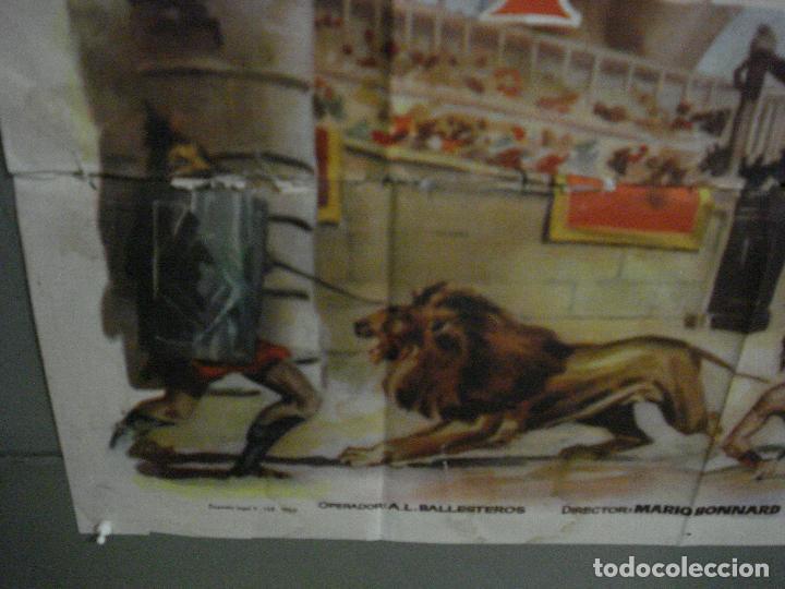 Cine: CDO M113 LOS ULTIMOS DIAS DE POMPEYA STEVE REEVES SERGIO LEONE PEPLUM POSTER ORIG 100x140 ESTRENO - Foto 5 - 286163033