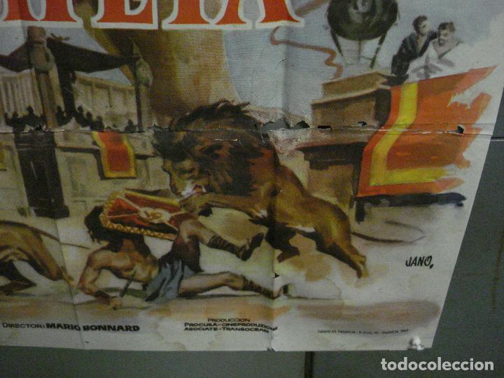 Cine: CDO M113 LOS ULTIMOS DIAS DE POMPEYA STEVE REEVES SERGIO LEONE PEPLUM POSTER ORIG 100x140 ESTRENO - Foto 9 - 286163033