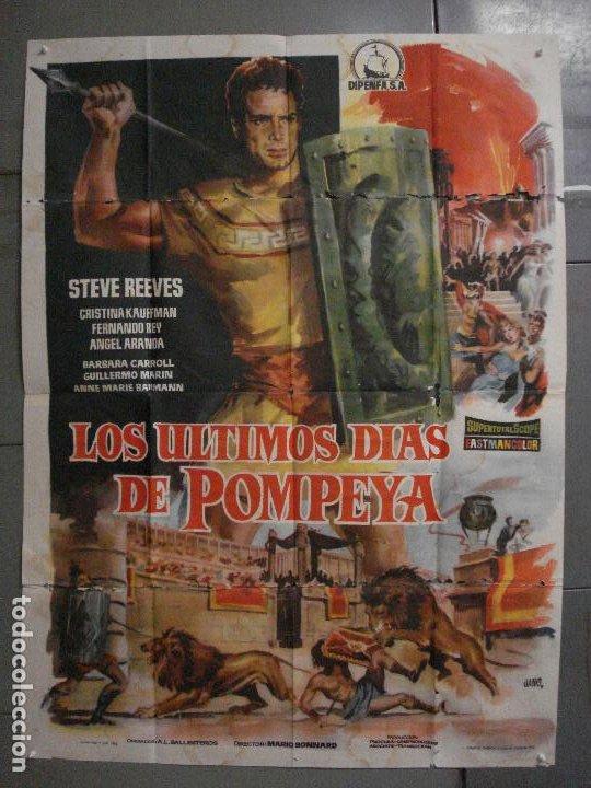 CDO M113 LOS ULTIMOS DIAS DE POMPEYA STEVE REEVES SERGIO LEONE PEPLUM POSTER ORIG 100X140 ESTRENO (Cine - Posters y Carteles - Aventura)