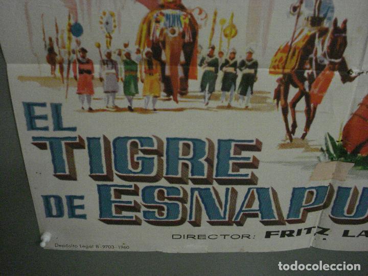 Cine: CDO M114 EL TIGRE DE ESNAPUR DEBRA PAGET FRITZ LANG JANO POSTER ORIGINAL 70X100 ESTRENO - Foto 5 - 286163803