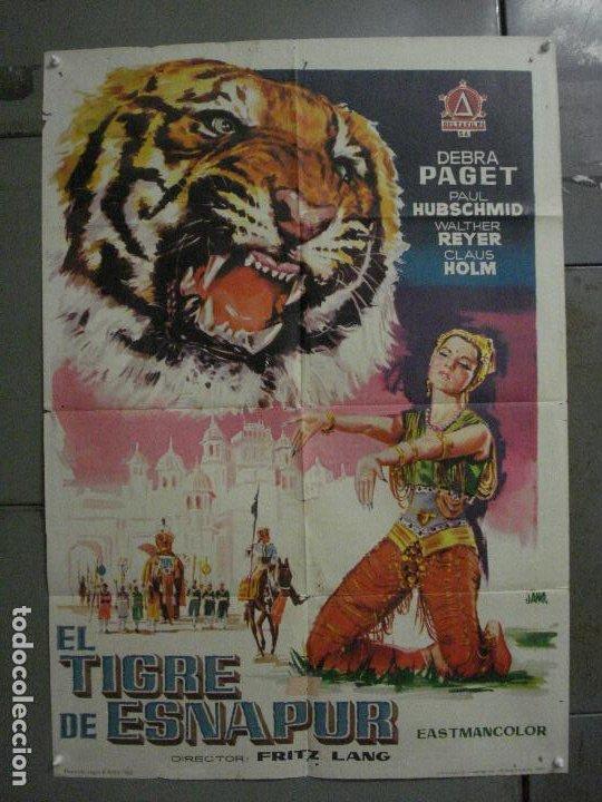CDO M114 EL TIGRE DE ESNAPUR DEBRA PAGET FRITZ LANG JANO POSTER ORIGINAL 70X100 ESTRENO (Cine - Posters y Carteles - Aventura)
