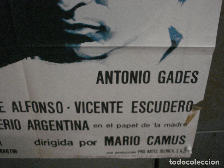 Cine: CDO M120 CON EL VIENTO SOLANO IMPERIO ARGENTINA ANTONIO GADES POSTER ORIGINAL 70X100 ESRENO - Foto 9 - 286174983