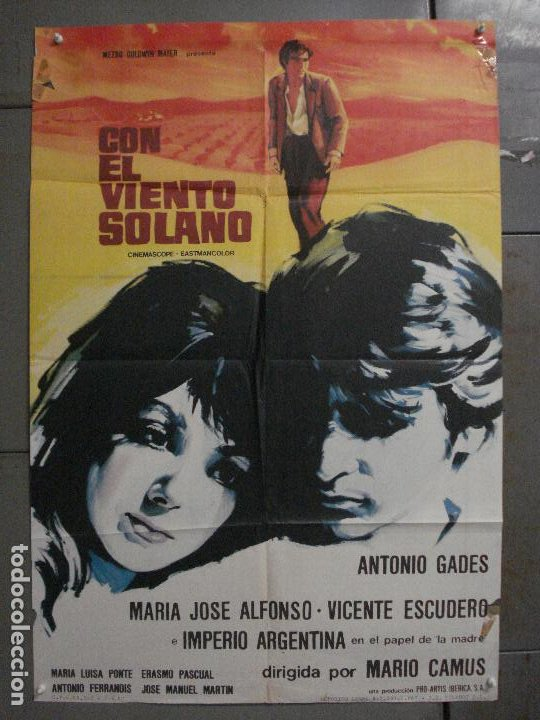 CDO M120 CON EL VIENTO SOLANO IMPERIO ARGENTINA ANTONIO GADES POSTER ORIGINAL 70X100 ESRENO (Cine - Posters y Carteles - Clasico Español)