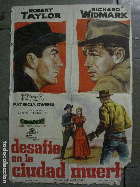 CDO M122 DESAFIO EN LA CIUDAD MUERTA ROBERT TAYLOR RICHARD WIDMARK JANO POSTER ORIG 70X100 ESTRENO (Cine - Posters y Carteles - Westerns)