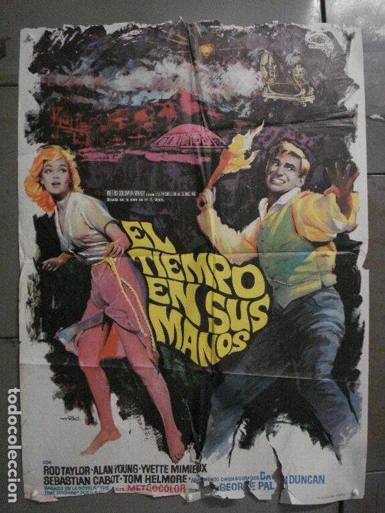 CDO M123 EL TIEMPO EN SUS MANOS ROD TAYLOR MAC POSTER ORIGINAL 70X100 ESTRENO (Cine - Posters y Carteles - Ciencia Ficción)