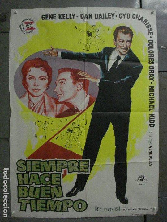CDO M124 SIEMPRE HACE BUEN TIEMPO GENE KELLY CYD CHARISSE DONEN JANO POSTER ORIGINAL ESTRENO 70X100 (Cine - Posters y Carteles - Musicales)