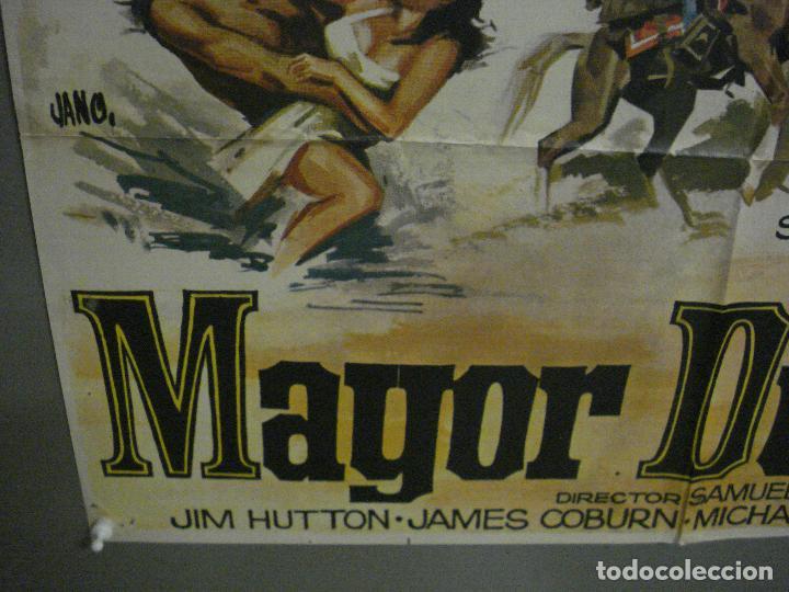 Cine: CDO M129 MAYOR DUNDEE SAM PECKINPAH CHARLTON HESTON JANO POSTER ORIGINAL 70X100 ESTRENO - Foto 5 - 286267668