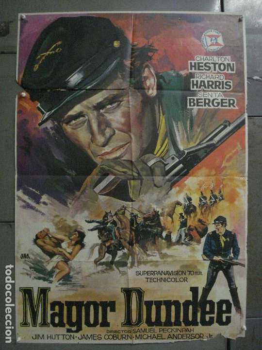 CDO M129 MAYOR DUNDEE SAM PECKINPAH CHARLTON HESTON JANO POSTER ORIGINAL 70X100 ESTRENO (Cine - Posters y Carteles - Westerns)