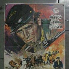 Cine: CDO M129 MAYOR DUNDEE SAM PECKINPAH CHARLTON HESTON JANO POSTER ORIGINAL 70X100 ESTRENO. Lote 286267668