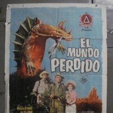 Cine: CDO M132 EL MUNDO PERDIDO IRWIN ALLEN ARTHUR CONAN DOYLE JANO POSTER ORIGINAL 70X100 ESTRENO. Lote 286272278