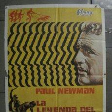 Cine: CDO M138 LA LEYENDA DEL INDOMABLE PAUL NEWMAN POSTER ORIGINAL 70X100 ESTRENO. Lote 286279278