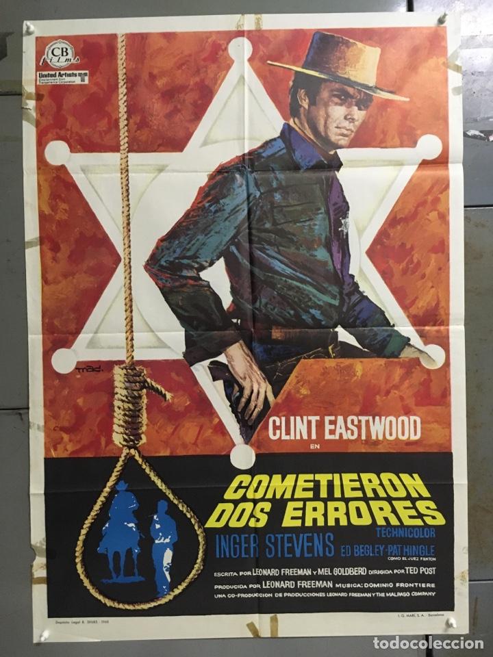 CDO M140 COMETIERON DOS ERRORES CLINT EASTWOOD MAC POSTER ORIGINAL 70X100 DEL ESTRENO (Cine - Posters y Carteles - Westerns)