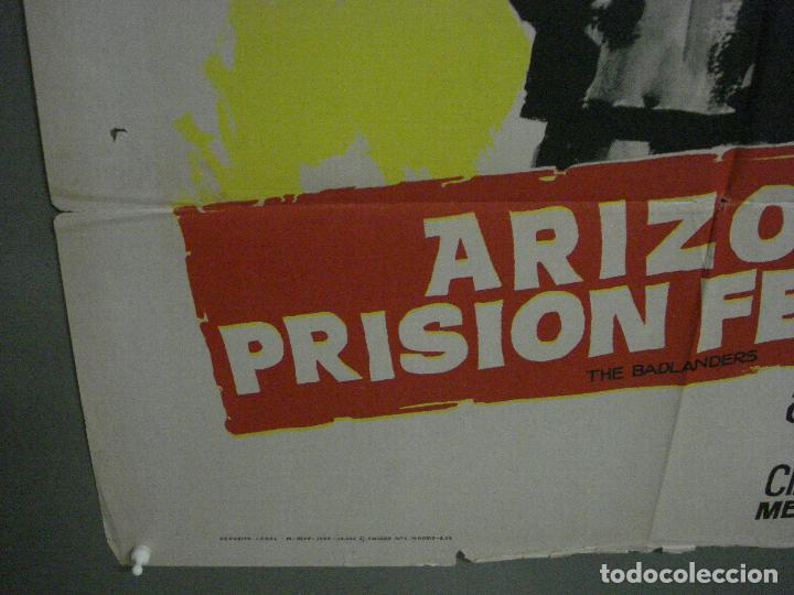 Cine: CDO M141 ARIZONA PRISION FEDERAL THE BADLANDERS ALAN LADD POSTER ORIG 70X100 ESTRENO - Foto 5 - 286281883