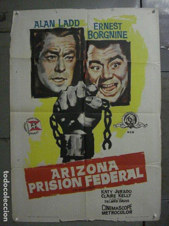 CDO M141 ARIZONA PRISION FEDERAL THE BADLANDERS ALAN LADD POSTER ORIG 70X100 ESTRENO (Cine - Posters y Carteles - Westerns)