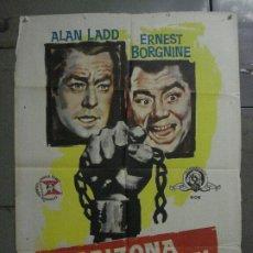 Cine: CDO M141 ARIZONA PRISION FEDERAL THE BADLANDERS ALAN LADD POSTER ORIG 70X100 ESTRENO. Lote 286281883