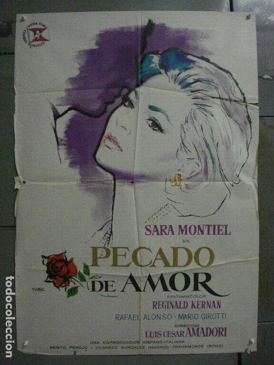 CDO M142 PECADO DE AMOR SARA MONTIEL MAC POSTER ORIGINAL ESTRENO 70X100 (Cine - Posters y Carteles - Clasico Español)