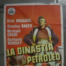 Cine: CDO M144 LA DINASTIA DEL PETROLEO DIRK BOGARDE STANLEY BAKER CIFESA POSTER ORIGINAL 70X100 ESTRENO. Lote 286283898