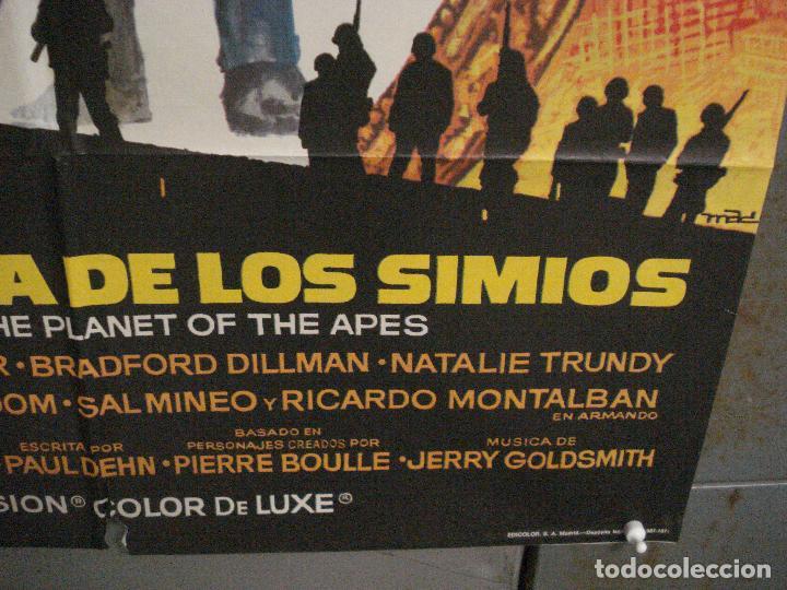 Cine: CDO M146 HUIDA DEL PLANETA DE LOS SIMIOS POSTER MAC ORIGINAL 70X100 ESTRENO - Foto 9 - 286307913