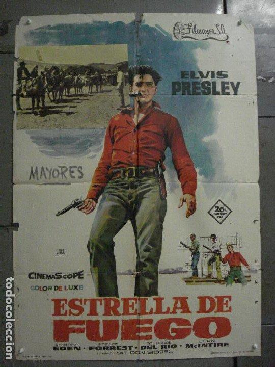 CDO M147 ESTRELLA DE FUEGO FLAMING STAR ELVIS PRESLEY JANO POSTER ORIGINAL 70X100 ESTRENO (Cine - Posters y Carteles - Westerns)