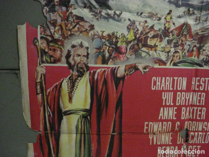 Cine: CDO M152 LOS DIEZ MANDAMIENTOS CHARLTON HESTON DEMILLE YUL BRYNNER POSTER ORIGINAL 70X100 ESTRENO - Foto 4 - 286313058