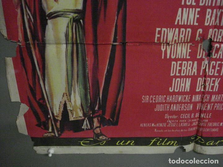 Cine: CDO M152 LOS DIEZ MANDAMIENTOS CHARLTON HESTON DEMILLE YUL BRYNNER POSTER ORIGINAL 70X100 ESTRENO - Foto 5 - 286313058