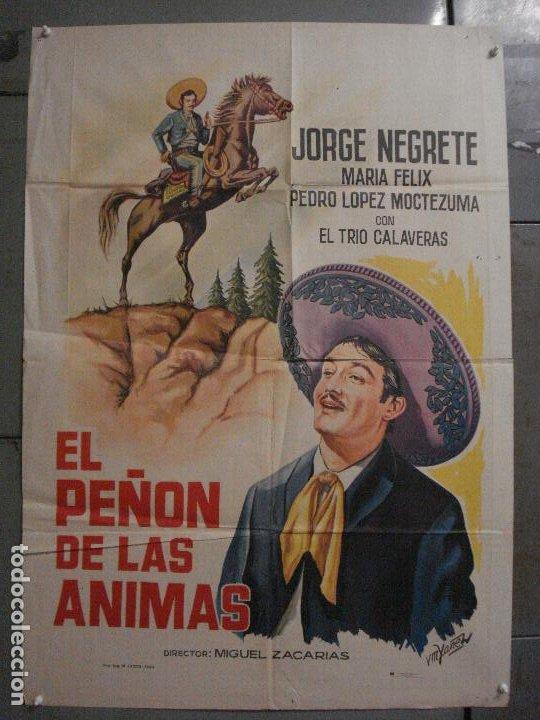 CDO M156 EL PEÑON DE LAS ANIMAS JORGE NEGRETE MARIA FELIX POSTER ORIGINAL ESPAÑOL 70X100 R-65 (Cine - Posters y Carteles - Westerns)