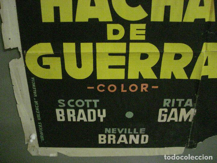 Cine: CDO M159 HACHA DE GUERRA SCOTT BRADY RITA GAM INDIOS POSTIGO POSTER ORIGINAL 70X100 ESTRENO LITOGRAF - Foto 5 - 286320493