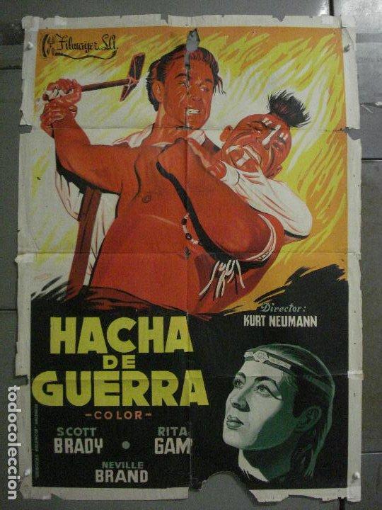 CDO M159 HACHA DE GUERRA SCOTT BRADY RITA GAM INDIOS POSTIGO POSTER ORIGINAL 70X100 ESTRENO LITOGRAF (Cine - Posters y Carteles - Westerns)