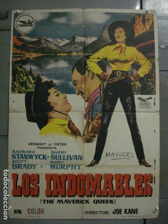 CDO M160 LOS INDOMABLES BARBARA STANWYCK BARRY SULLIVAN POSTER ORIGINAL 70X100 ESTRENO (Cine - Posters y Carteles - Westerns)