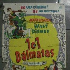 Cine: CDO M162 101 DALMATAS WALT DISNEY ANIMACION POSTER ORIGINAL 70X100 ESTRENO. Lote 286324328