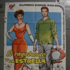 Cine: CDO M167 EL VAGABUNDO Y LA ESTRELLA ALFREDO KRAUS ANA ESMERALDA POSTER ORIGINAL 70X100 ESTRENO. Lote 286330138