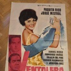 Cine: ANTIGUO CARTEL DE CINE ORIGINAL AÑOS 60 VENTOLERA. Lote 286375363