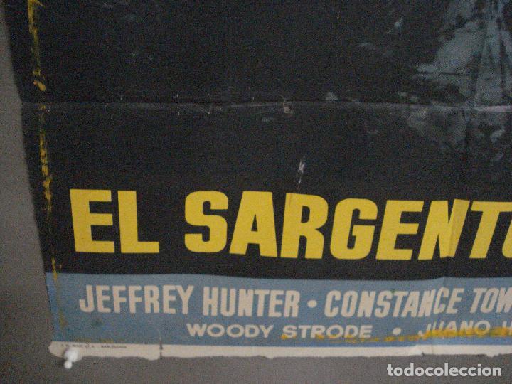 Cine: CDO M171 EL SARGENTO NEGRO JOHN FORD JEFFREY HUNTER POSTER ORIGINAL 70X100 ESTRENO - Foto 5 - 286408918