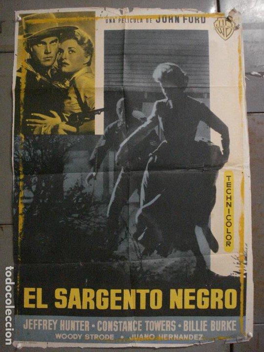 CDO M171 EL SARGENTO NEGRO JOHN FORD JEFFREY HUNTER POSTER ORIGINAL 70X100 ESTRENO (Cine - Posters y Carteles - Westerns)