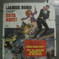 Cine: CDO M172 007 AL SERVICIO SECRETO DE SU MAJESTAD JAMES BOND LAZENBY POSTER ORIGINAL ESTRENO 70X100. Lote 286409548