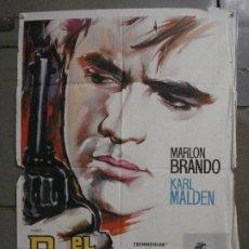 Cine: CDO M175 EL ROSTRO IMPENETRABLE MARLON BRANDO MAC POSTER ORIGINAL 70X100 ESTRENO. Lote 286411588