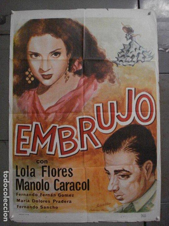 CDO M177 EMBRUJO LOLA FLORES MANOLO CARACOL POSTER ORIGINAL 70X100 R-66 (Cine - Posters y Carteles - Clasico Español)