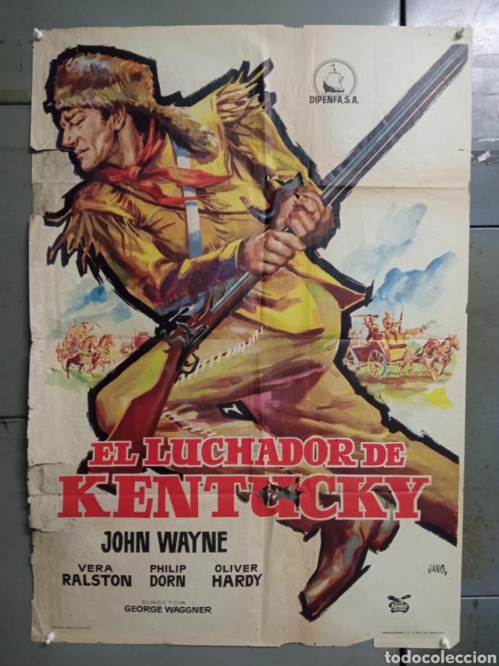 CDO M174 EL LUCHADOR DE KENTUCKY JOHN WAYNE JANO POSTER ORIGINAL 70X100 ESTRENO (Cine - Posters y Carteles - Westerns)