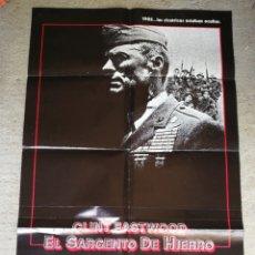 Cine: PÓSTER CARTEL CINE ORIGINAL EL SARGENTO DE HIERRO (CLINT EASTWOOD), WARNER ESPAÑOLA, 1987. 98X68CM.. Lote 286428008