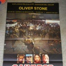 Cine: PÓSTER CARTEL CINE ORIGINAL SALVADOR- OLIVER STONE, ORION FILMS. 98X65CM.. Lote 286430653