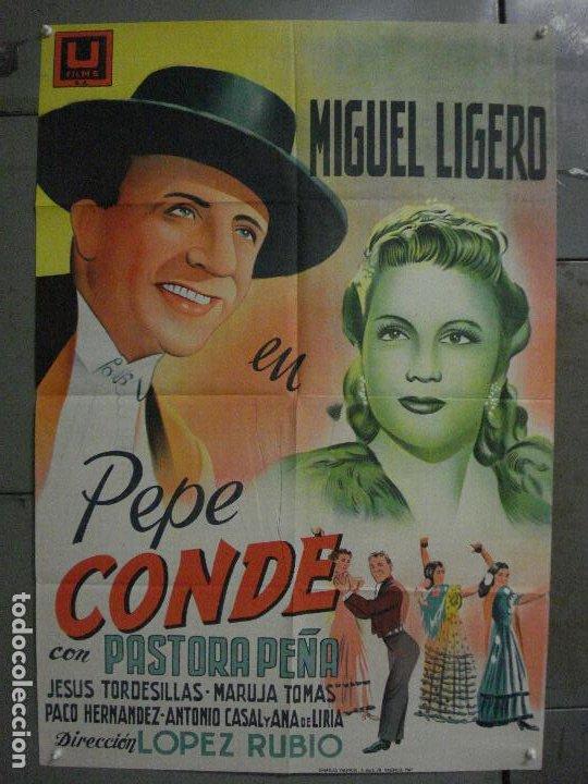 ABI44 PEPE CONDE MIGUEL LIGERO PASTORA PEÑA POSTER ORIGINAL ESPAÑOL 70X100 LITOGRAFIA R-61 (Cine - Posters y Carteles - Clasico Español)