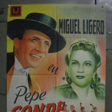 Cine: ABI44 PEPE CONDE MIGUEL LIGERO PASTORA PEÑA POSTER ORIGINAL ESPAÑOL 70X100 LITOGRAFIA R-61. Lote 286431633