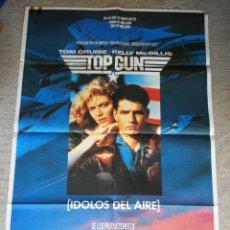Cine: PÓSTER CARTEL ORIGINAL CINE TOP GUN, ÍDOLOS DEL AIRE- TOM CRUISE, KELLY MCGILLIS, 1986. 100X70CM. Lote 286431833