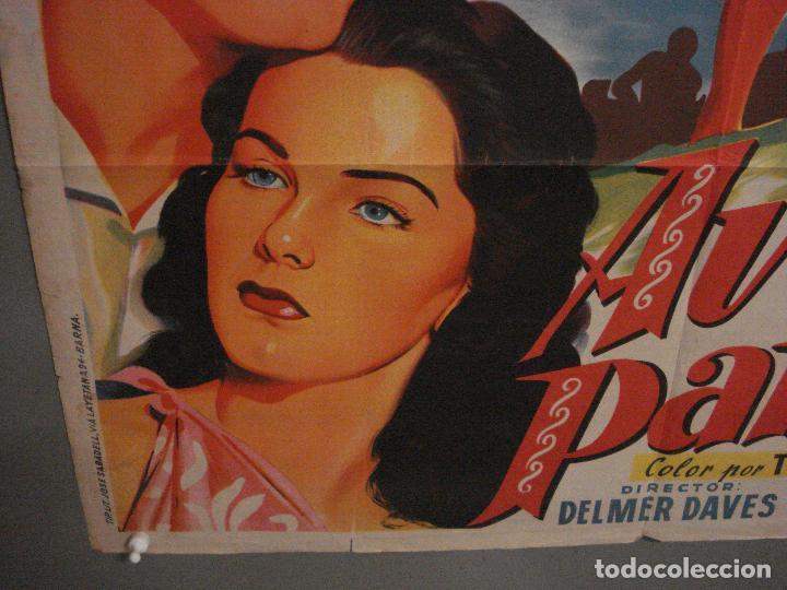 Cine: ABI46 AVE DEL PARAISO DEBRA PAGET JEFF CHANDLER SOLIGO POSTER ORIGINAL 70X100 ESTRENO LITOGRAFIA - Foto 5 - 286438453