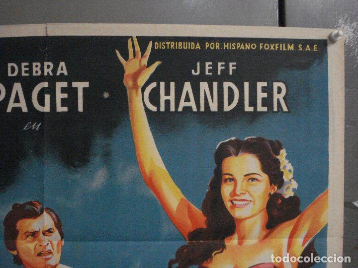 Cine: ABI46 AVE DEL PARAISO DEBRA PAGET JEFF CHANDLER SOLIGO POSTER ORIGINAL 70X100 ESTRENO LITOGRAFIA - Foto 6 - 286438453
