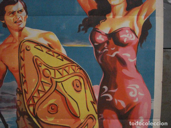 Cine: ABI46 AVE DEL PARAISO DEBRA PAGET JEFF CHANDLER SOLIGO POSTER ORIGINAL 70X100 ESTRENO LITOGRAFIA - Foto 7 - 286438453