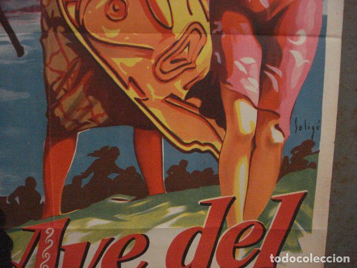 Cine: ABI46 AVE DEL PARAISO DEBRA PAGET JEFF CHANDLER SOLIGO POSTER ORIGINAL 70X100 ESTRENO LITOGRAFIA - Foto 8 - 286438453