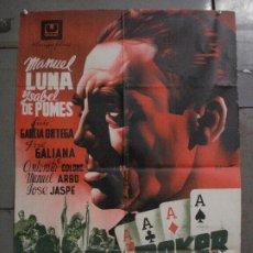 Cine: ABI4 POKER DE ASES MANUEL LUNA ISABEL DE POMES NAIPE POSTER ORIGINAL 70X100 ESTRENO LITOGRAFIA. Lote 286439183